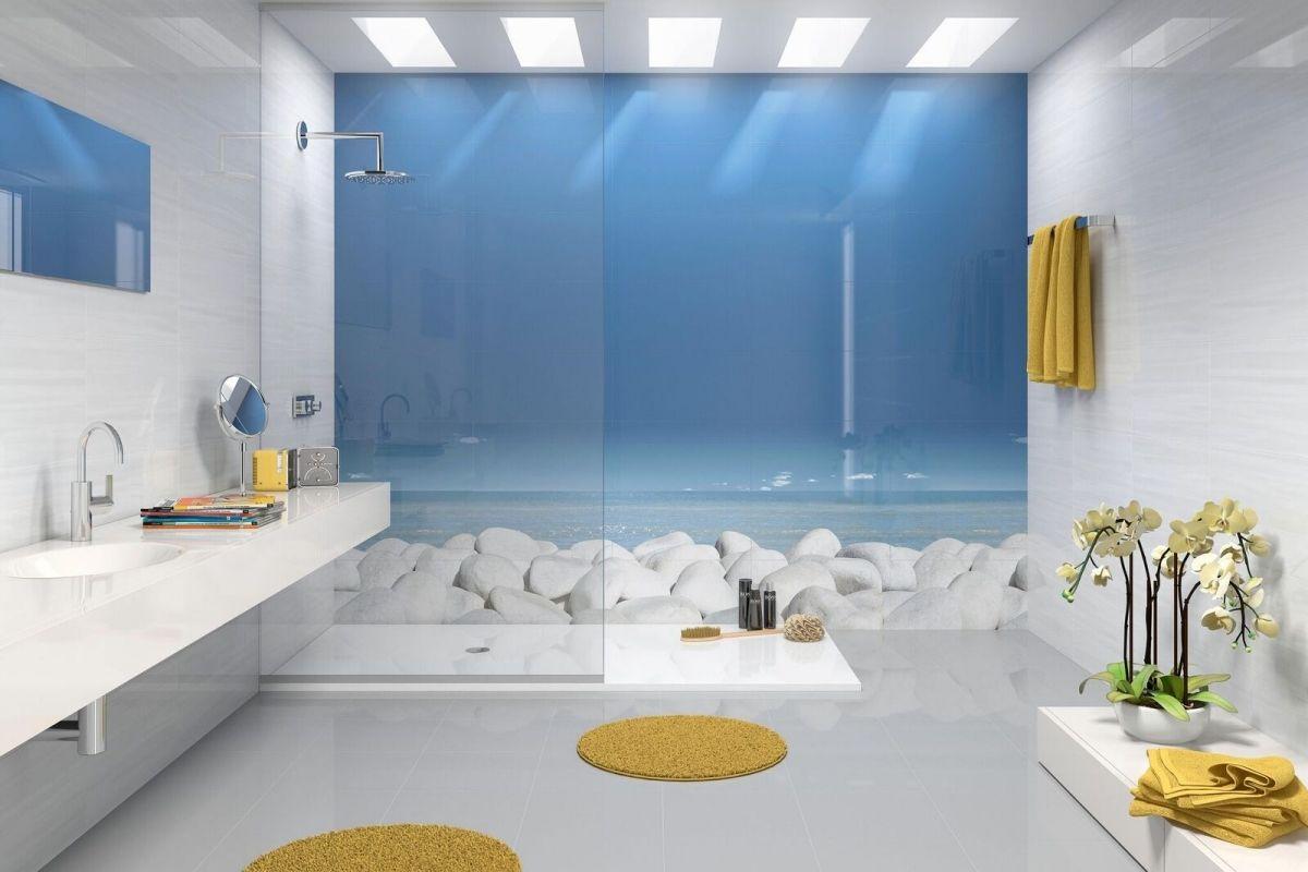 Bac douche sur mesure dans le morbihan lorient 56 for Salle de bain minerale