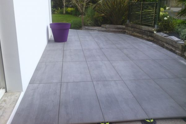 Carrelage 60x120 20mm pour terrasse plot ou accessible en pose collée ou lit de sable