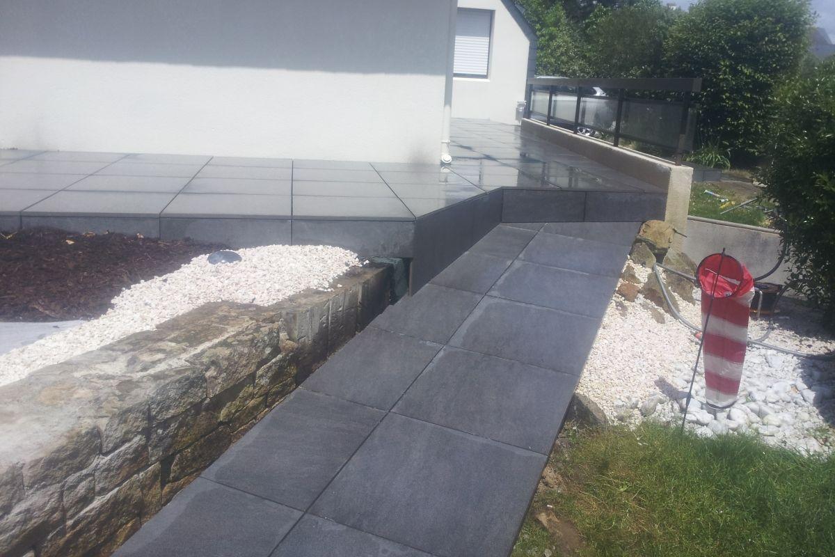 R alisations de terrasse lorient dans le morbihan for Carrelage exterieur 40x40